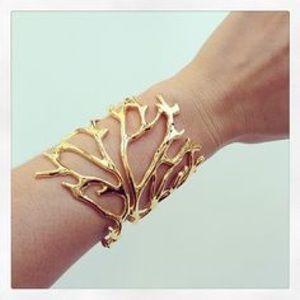 Tiffany Chou Gold Coral Cuff Jewelry